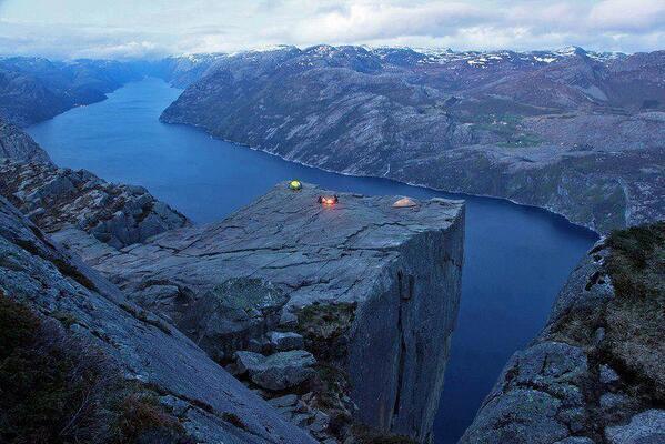 la Roca del predicador, Noruega
