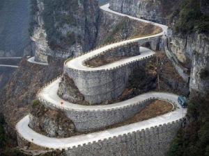 carretera y muro