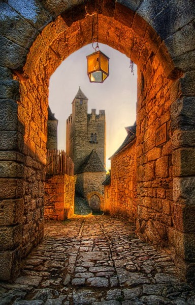 Old Archway in Beynac Castle - France by Jimmy McIntyre