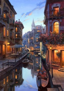 Placidity in Venice Digital Art by Evgeny Lushpin