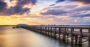 Melbourne beach pier sunset 9.26.49 PM