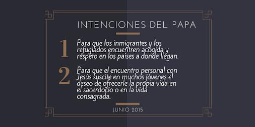 intenciones Papa junio 2015